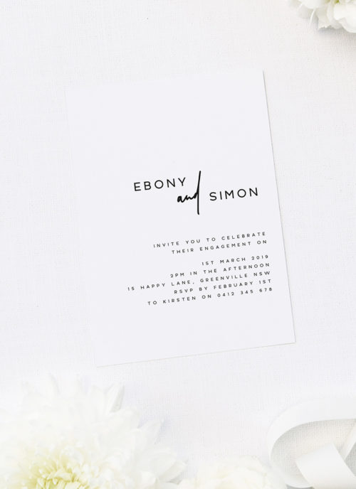 Modern Feature Names Engagement Invitations