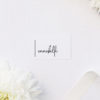 Simple Modern Hand Writing Line Name Place Cards Simple Modern Hand Writing Line Wedding Invitations