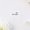 Contemporary Hand Writing Modern Minimal Name Place Cards Contemporary Hand Writing Modern Minimal Wedding Invitations