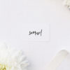 Modern Minimal Bold Brush Script Name Cards Modern Minimal Bold Brush Script Wedding Invitations