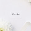 Feature Names Modern Minimal Sophisticated Name Cards Feature Names Modern Minimal Sophisticated Wedding Invitations