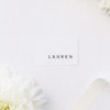 Clean Simple Modern Minimal Name Place Cards Clean Simple Modern Minimal Wedding Invitations