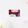 Red Burgundy Rose Floral Name Place Cards Red Burgundy Rose Floral Wedding Invitations