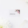 Contemporary Blush Pink Botanical Name Place Cards Contemporary Blush Pink Botanical Wedding Invitations
