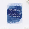 Navy Blue Watercolour Splash Baby Shower Invitations