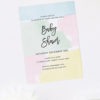 Pastel Baby Shower Invitations