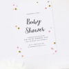 Gold and Pink Confetti Baby Shower Invitations