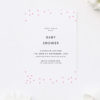 Pink Confetti Baby Shower Invites