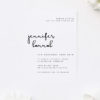 Modern Feature Script Christening Invitations