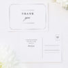 Timeless Decorative Border Elegant Classic Classy Wedding Thank You Postcards Timeless Decorative Border Elegant Classic Classy Wedding Invitations