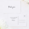 Clean Simple Modern Minimal Brush Script Wedding Thank You Postcards Clean Simple Modern Minimal Brush Script Wedding Invitations