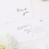 Feature Names Modern Minimal Sophisticated Wedding Thank You Postcards Feature Names Modern Minimal Sophisticated Wedding Invitations