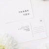 Clean Simple Modern Minimal Wedding Thank You Postcards Clean Simple Modern Minimal Wedding Invitations