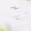 Cursive Hand Script Simple Modern Minimal Wedding Thank You Postcards Cursive Hand Script Simple Modern Minimal Wedding Invitations