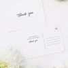 Modern Minimal Cursive Writing Wedding Thank You Postcards Modern Minimal Cursive Writing Wedding Invitations