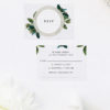 Modern Botanical Leaf Wedding Invitations