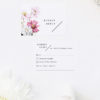 White Pink Daisies Wedding Invitations