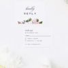 Elegant Magnolia Flowers Wedding Invitations Pink Florals green Leaves Classic Elegant Writing Simple Beautiful