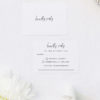 Modern Minimal Sophisticated Hand Cursive Wedding Invitations