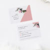 Contemporary Blush Pink Botanical Wedding Invitations