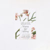 Orchid Flower Save the Dates Orchid Flower Wedding Invitations - Peach Pink Orchid Flowers