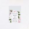 Elegant Magnolia Flower Save the Dates Elegant Magnolia Flower Wedding Invitations - Pale Pink Blue Green Florals
