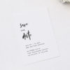 Modern Minimal Bold Brush Script Wedding Invitations