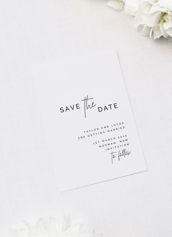 Modern Edgy Fonts Clean Minimal Save the Dates - Modern Save the Dates