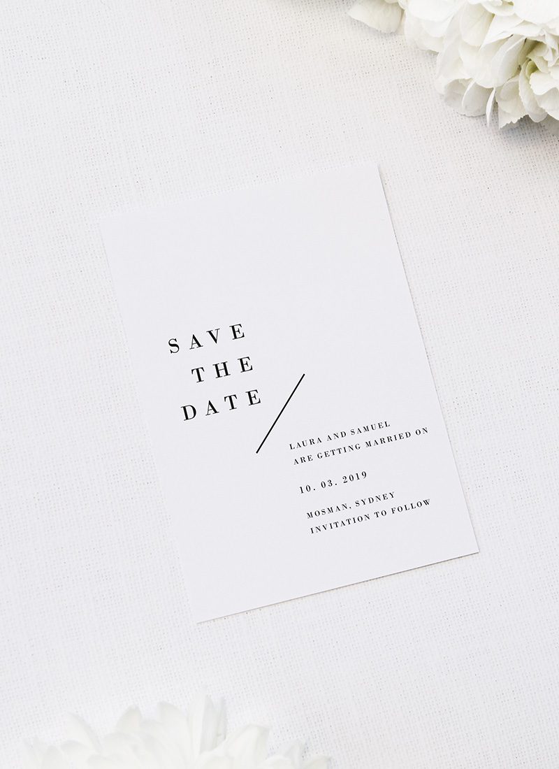 Large Bold Capital Letters Feature Names Wedding Invitations