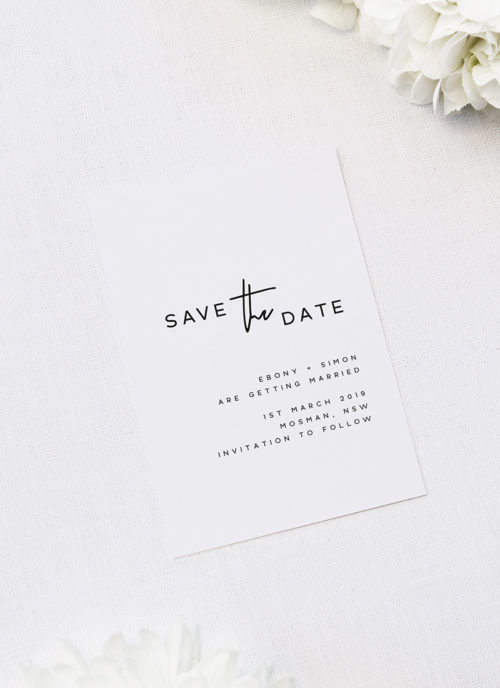 Modern Layout Feature Names Wedding Invitations