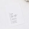 Modern Minimal Sophisticated Hand Script Wedding Invitations