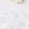 Classy Minimal Layout Feature Line Wedding Invitations