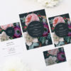 Dark Moody Floral Wedding Invitations
