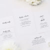Modern Minimal Cursive Hand Brush Script Wedding Invitations