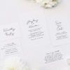 Minimal Contemporary Hand Writing Script Wedding Invitations