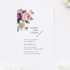Modern Rose Bouquet Simple Minimal Engagement Invitations