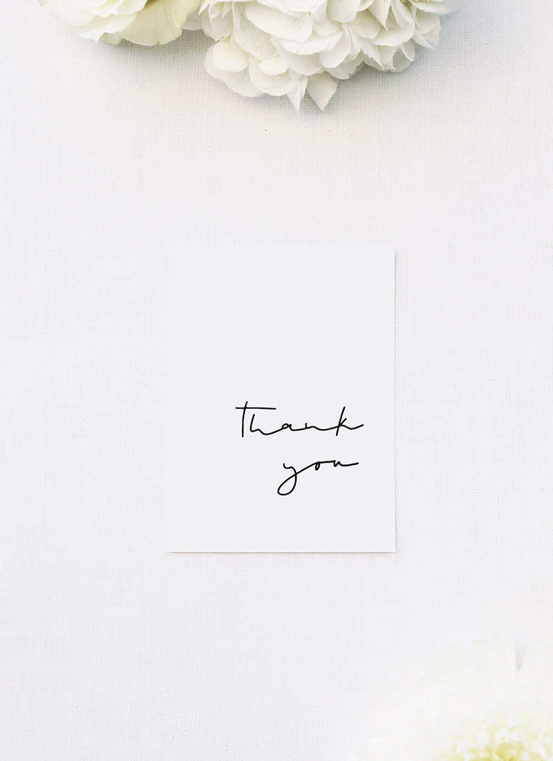 Feature Names Modern Minimal Sophisticated Wedding Thank You Cards Feature Names Modern Minimal Sophisticated Wedding Invitations