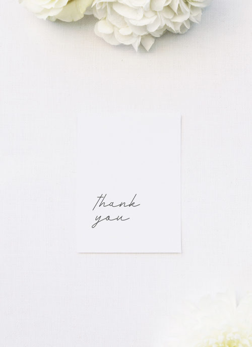 Cursive Hand Writing Modern Minimal Wedding Thank You Cards Cursive Hand Writing Modern Minimal Wedding Invitations