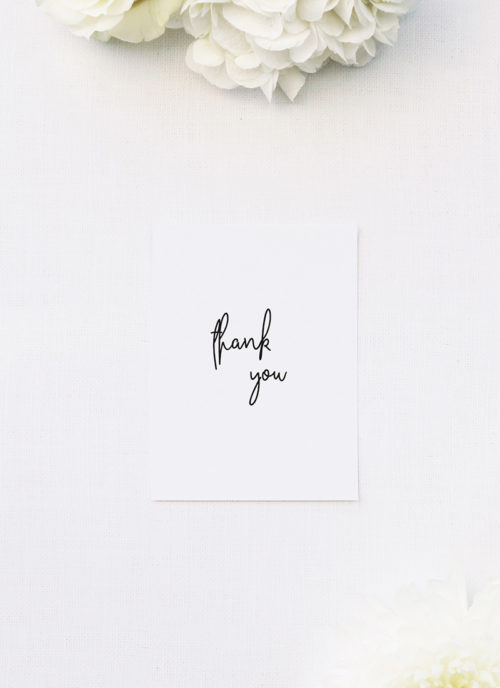 legant Cursive Modern Minimal Wedding Thank You Cards Elegant Cursive Modern Minimal Wedding Invitations