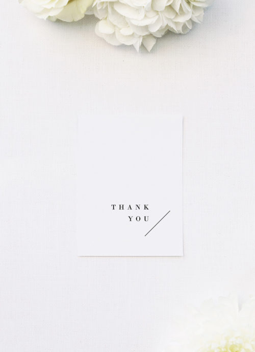 Classy Minimal Layout Feature Line Wedding Thank You Cards Classy Minimal Layout Feature Line Wedding Invitations