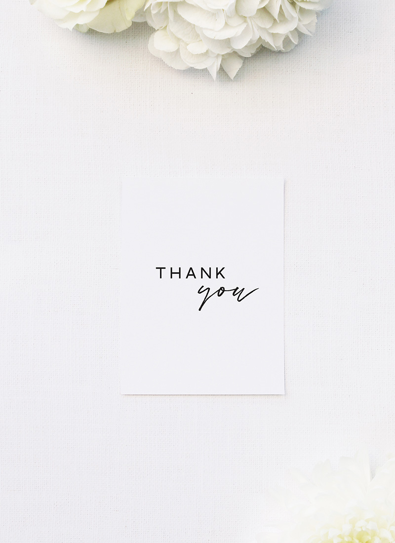 Cursive Hand Script Simple Modern Minimal Wedding Thank You Cards Cursive Hand Script Simple Modern Minimal Wedding Invitations