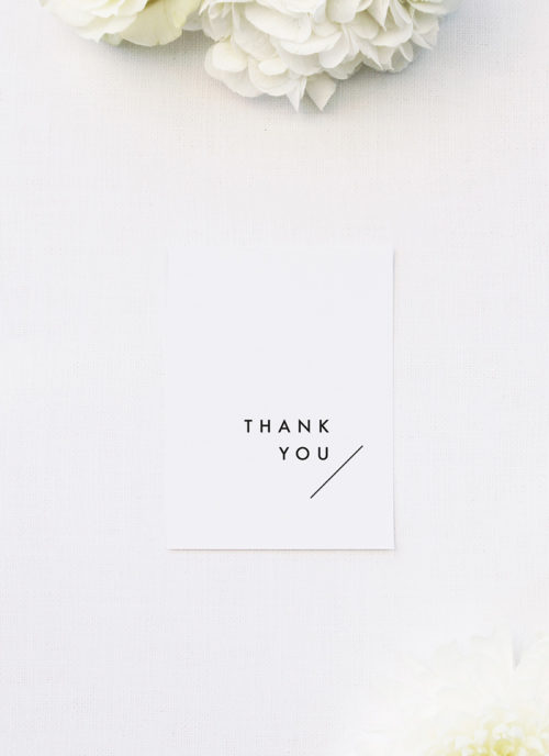 Modern Line Layout Clean Minimal Wedding Thank You Cards Modern Line Layout Clean Minimal Wedding Invitations
