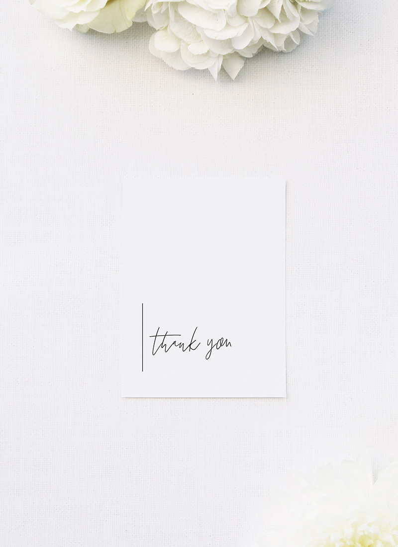 Modern Minimal Sophisticated Hand Script Wedding Thank You Cards Modern Minimal Sophisticated Hand Script Wedding Invitations