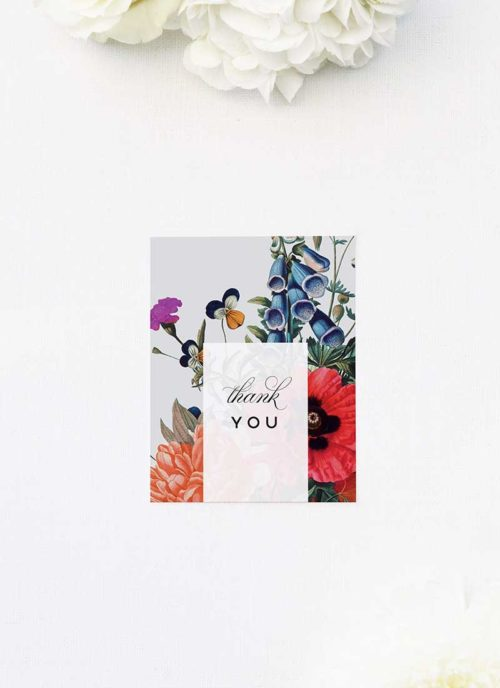 Stunning Floral Bouquet Wedding Thank You Cards Stunning Floral Bouquet Wedding Invitations