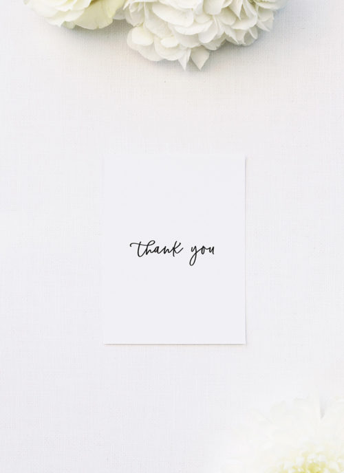 Modern Minimal Cursive Writing Wedding Thank You Cards Modern Minimal Cursive Writing Wedding Invitations