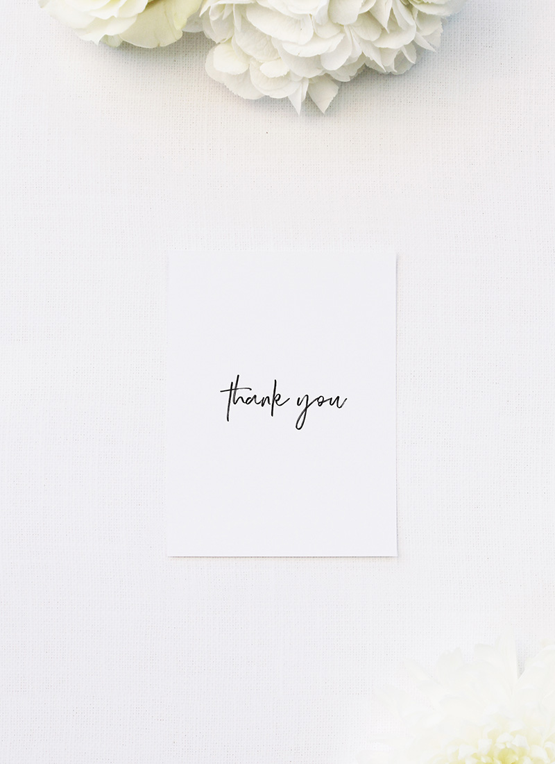 Clean Simple Modern Minimal Brush Script Wedding Thank You Cards Clean Simple Modern Minimal Brush Script Wedding Invitations