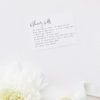 Natural Relaxed Free Modern Minimal Hand Script Wedding Invitations