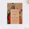 Stunning Elegant Florals Classy Flower Bouquet Wooden Wedding Invitations