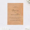Simple Writing Elegant Cursive Wooden Wedding Invitations