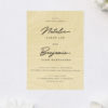 Elegant Loose Natural Hand Script Cursive Wooden Wedding Invitations